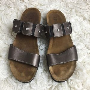 NAOT cork and leather sandals, size 39
